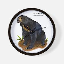 Sun Bear Wall Clock