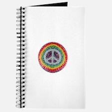 Cute Tye dye peace hippie Journal