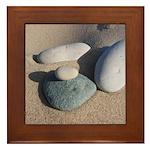 Beach Rocks Framed Tile