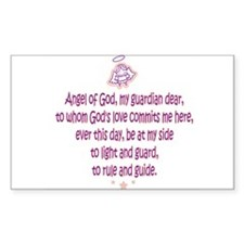 Guardian Angel Prayer 3 Rectangle Decal