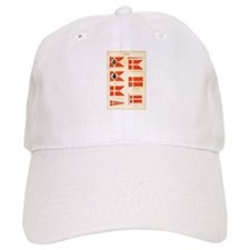 Old Denmark Flags Baseball Cap