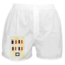 Old France Flags Boxer Shorts