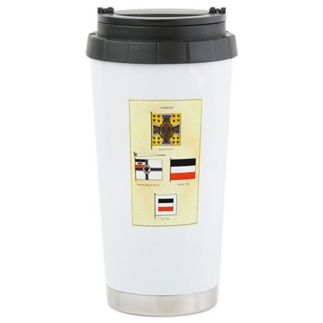 Old Germany Flags Stainless Steel Travel Mug