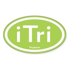 iTri Green Oval Decal