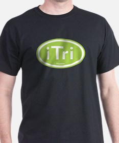 iTri Green Oval T-Shirt