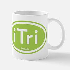 iTri Green Oval Mug