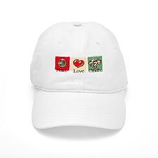 Peace, love, Cthulhu Baseball Cap