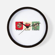 Peace, love, Cthulhu Wall Clock