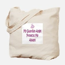 Guardian Angel Protects - Pin Tote Bag