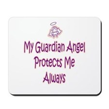Guardian Angel Protects - Pin Mousepad