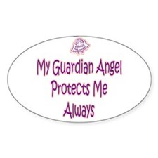Guardian Angel Protects - Pin Oval Decal