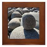 Acadia Sea Wall Rocks Framed Tile