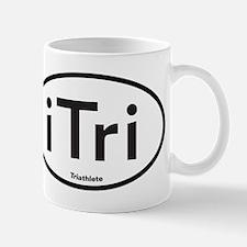 iTri White Oval Mug