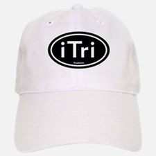 iTri Black Oval Baseball Baseball Cap