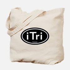 iTri Black Oval Tote Bag