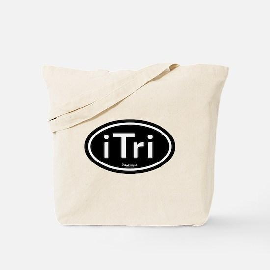 iTri Black Oval Tote Bag