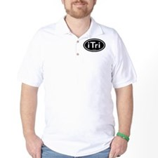 iTri Black Oval T-Shirt