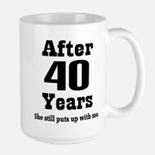40th Anniversary Funny Quote Mugs