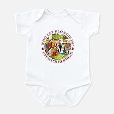 WHO LET BLONDIE IN? Infant Bodysuit