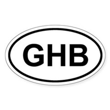 Governors Harbour, Eleuthera, GHB Sticker (Oval)