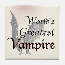 Greatest Vampire Tile Coaster