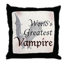 Greatest Vampire Throw Pillow