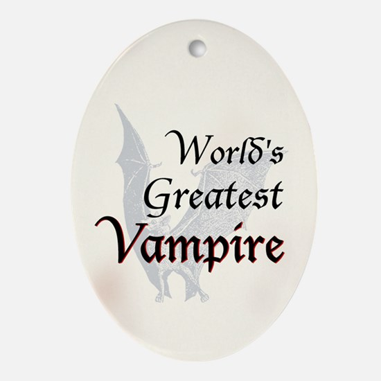 Greatest Vampire Ornament (Oval)
