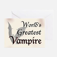 Greatest Vampire Greeting Card