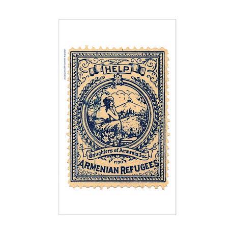 Armenian Refugees Seal Sticker (Rectangular)