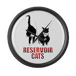 Reservoir Cats Large Wall Clock