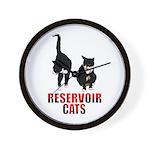 Reservoir Cats Wall Clock