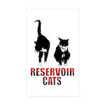 Reservoir Cats Sticker (Rectangle 50 pk)