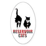 Reservoir Cats Sticker (Oval 50 pk)