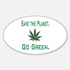 Funny Weed Sticker (Oval)