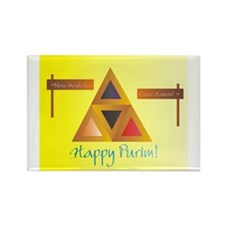 Happy Purim Rectangle Magnet