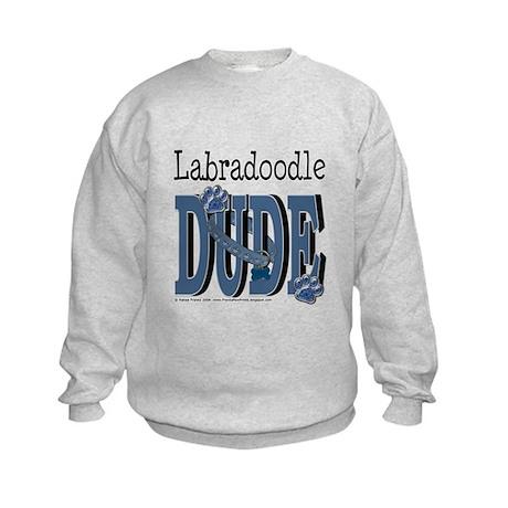 Labradoodle DUDE Kids Sweatshirt