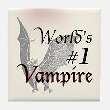 #1 Vampire Tile Coaster