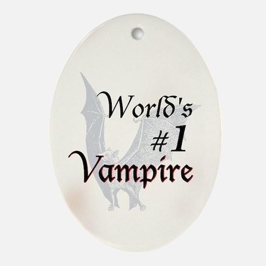 #1 Vampire Ornament (Oval)