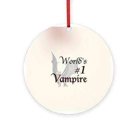 #1 Vampire Ornament (Round)