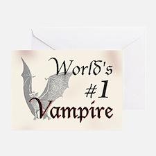 #1 Vampire Greeting Card
