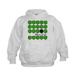 Black Irish with Shamrocks Hoodie