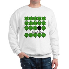 Black Irish with Shamrocks Sweatshirt