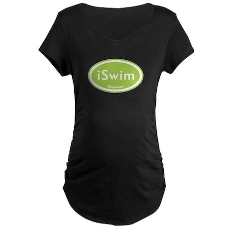 iSwim Green Oval Maternity Dark T-Shirt