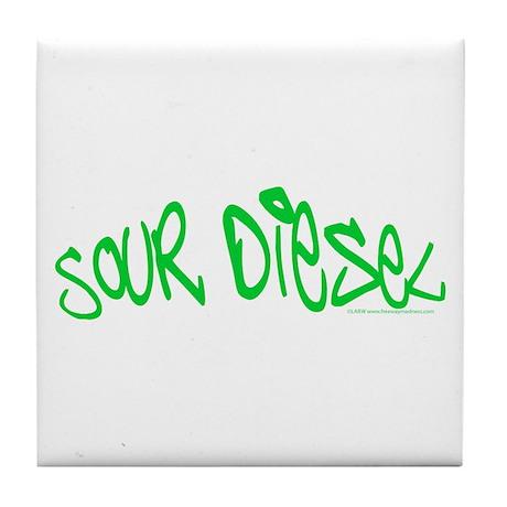 Sour Diesel Tile Coaster