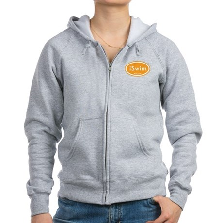iSwim Orange Oval Women's Zip Hoodie