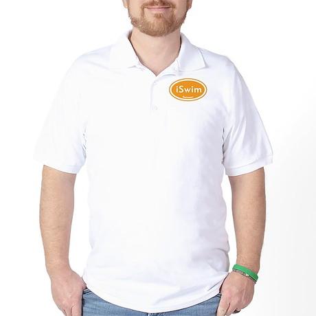 iSwim Orange Oval Golf Shirt