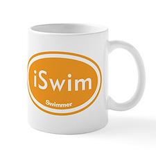 iSwim Orange Oval Mug