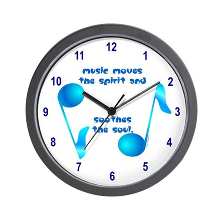 Music Soothes Wall Clock
