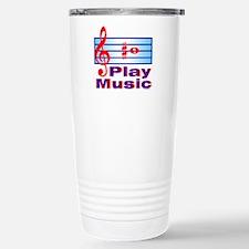 B Sharp Play Music Stainless Steel Travel Mug