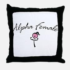 Cute Lesbian humor Throw Pillow